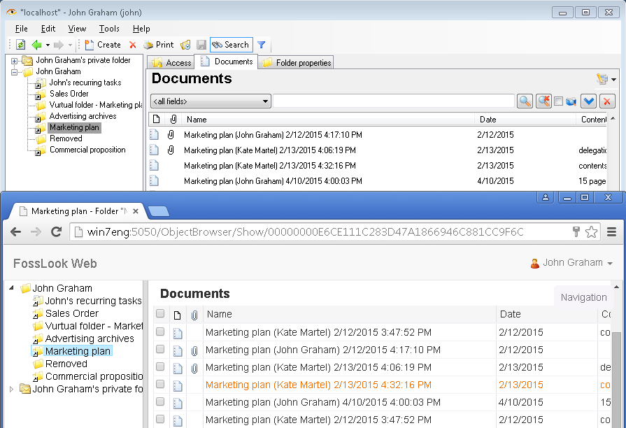 FossLook and Google Drive Comparison