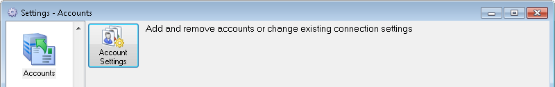 Accounts settings dialog