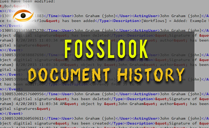 How to work with document history