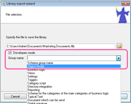 Enabling developer export mode