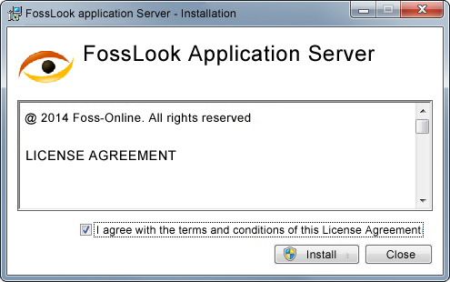 FossLook application server installation