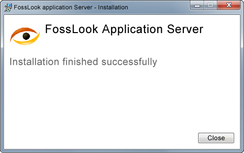 FossLook Server Installation - Finishing