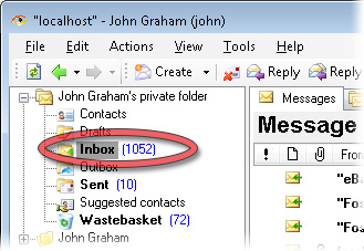 Thousand emails in a corporate inbox