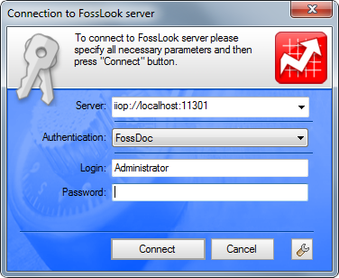FossLook Server - Connection Dialog