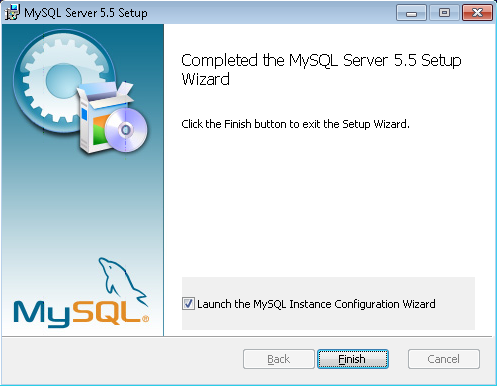 MySQL installation final page