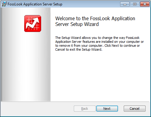 FossLook Server installation wizard