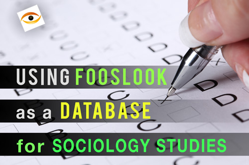 Using FossLook you can greatly simplify sociologist's work with the data
