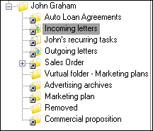 Various document types in the client application